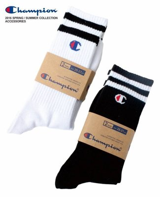 【 HYDRA】全新正品 Champion 足球襪 長筒襪 運動 日本 黑 白 拆賣 單雙賣場 提花 Basic 冠軍