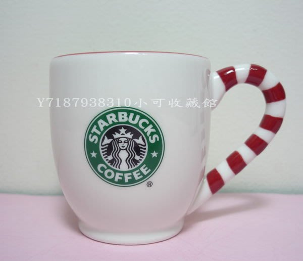 《全新收藏品》星巴克 Starbucks 2010 聖誕/耶誕節 經典舊logo/女神/美人魚 雪花拐杖糖果 馬克杯 12oz