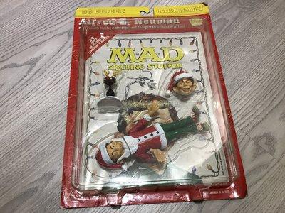 1999 美國 MAD Stocking Stuffer DC STUPID HERO 聖誕老公公 系列人物 吊卡公仔