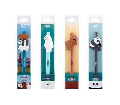 ♀高麗妹♀韓國 We BARE BEARS《熊熊遇見你》三隻熊 GEL PEN 按壓式圓珠筆/中性筆(2款選)