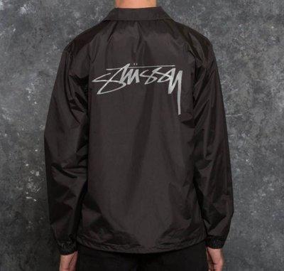 ☆AirRoom☆【現貨】Stussy Cruize Coach Jacket 草寫 教練 外套 黑色