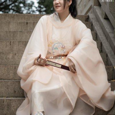[柚子潮流館] 花仙記創意漢服(大明風華)男女款明制升級刺繡款圓領袍RD694