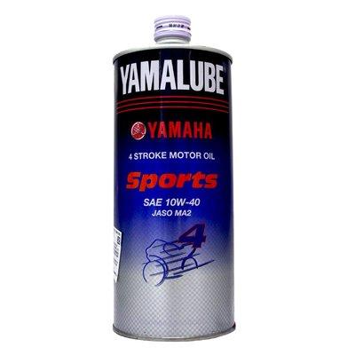 【易油網】YAMAHA YAMALUBE原廠EFERO SPORT 10W40 10W-40圓鐵罐 4T合成機油
