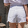/SAFA/ 韓 推薦夏日必備下抽鬚隱藏鬆緊褲頭牛仔短褲【0603U062】