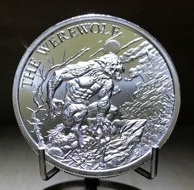 «自由銀» The Werewolf 高浮雕款-狼人銀幣 (2 toz=62.2g)