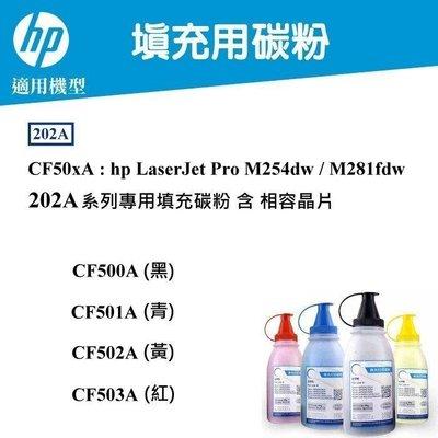 【酷碼數位】202A 填充碳粉 hp pro M254dw M281fdw 碳粉匣 HP202A HP CF500A CF501A CF502A CF503A