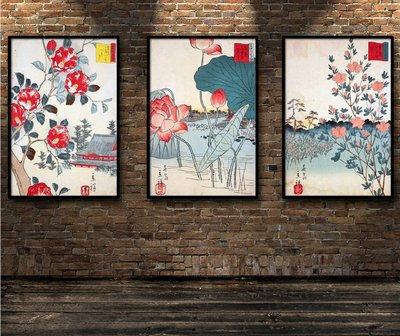 日料壽司店裝飾畫浮世繪日本風俗畫三十六...