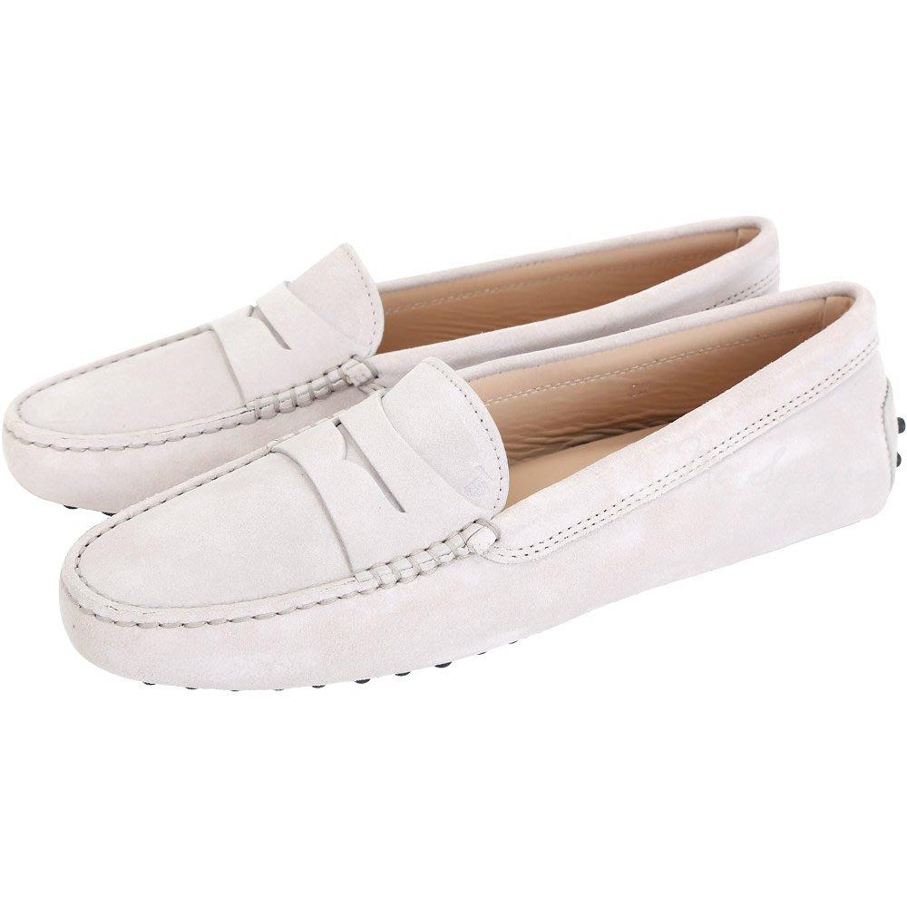 米蘭廣場 TOD'S Gommino Driving 麂皮絨休閒豆豆鞋(女鞋/寧靜灰) 1720172-D7