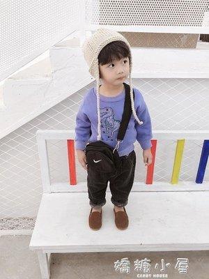 棉小班兒童冬裝衛衣韓版潮1-3歲寶寶休閒上衣男童恐龍字母套頭衫