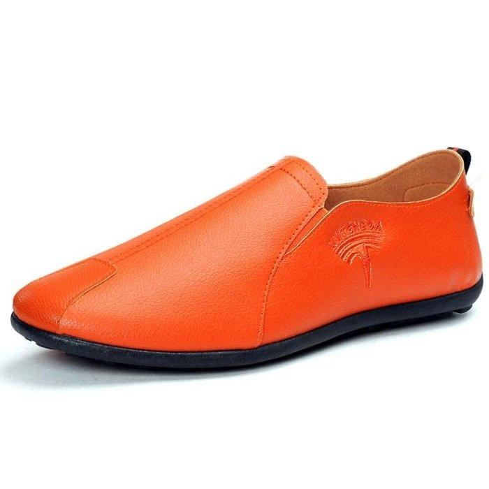 秋季豆豆鞋男士休閒皮鞋韓版潮流冬季棉鞋懶人一腳蹬百搭男鞋子