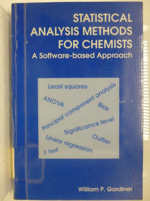 【月界】Statistical Analysis Methods For Chemists 〖大學理工醫〗AFC