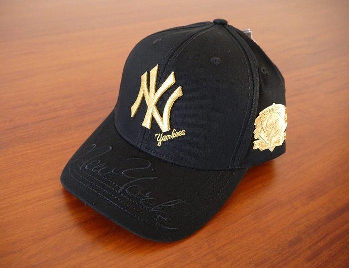MLB 紐約洋基隊 棒球帽 黑色金標燙金片 現貨!!