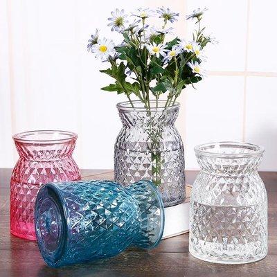 買一送一 歐式彩色玻璃水培花瓶餐廳客廳...