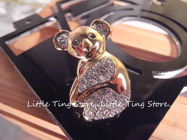 義大利古董珠寶VALENTINO (范倫鐵諾)金色底無尾熊別針胸針插針/型男用別針帽針