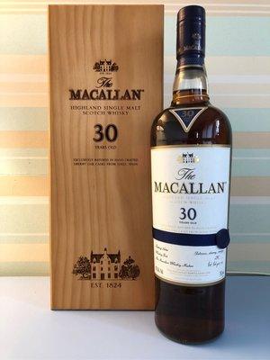 Macallan 30年 舊版麥卡倫 Sherry Oak 雪莉桶 威士忌 Whisky  美國版750ml  43%abv