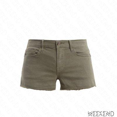 【WEEKEND】 FRAME DENIM Le Cutoff 抽鬚 牛仔 短褲 熱褲 卡其綠色