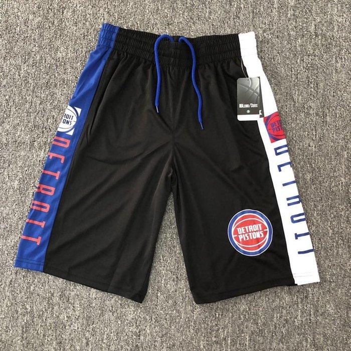 NBA籃球短褲 底特律活塞隊 ALLEN IVERSON  口袋版 運動籃球褲 正版
