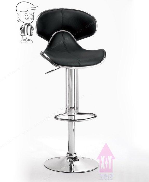 【X+Y時尚精品傢俱】現代吧檯椅系列-奈特 吧台椅(黑色)-坐墊高級馬鞍皮+高密度泡棉.摩登家具