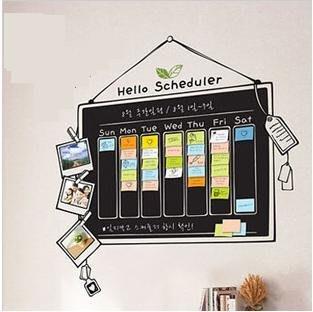 小妮子的家@黑板/日程表壁貼/牆貼/玻璃貼/ 磁磚貼/汽車貼/家具貼/冰箱貼