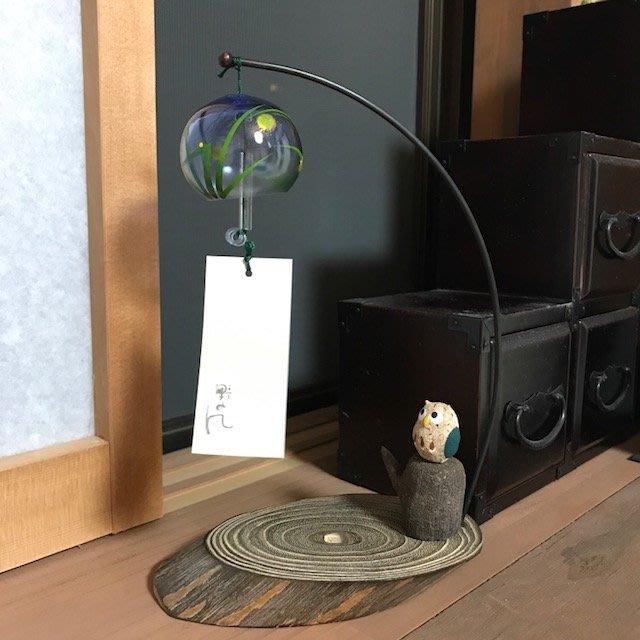日本會津桐桌上型琉璃貓頭鷹風鈴,附盒裝~最特別的禮物都在奧爾思~