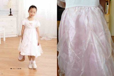 全新 YOYO & NaNa 專櫃 粉色珍珠蝴蝶結緞面澎紗禮服-9-低價起標