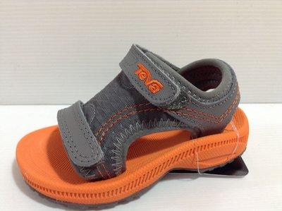 Teva 專業戶外戲水系中童 黏貼帶設計涼鞋 運動涼鞋 耐磨 耐水性 尺寸:18,19,19.5