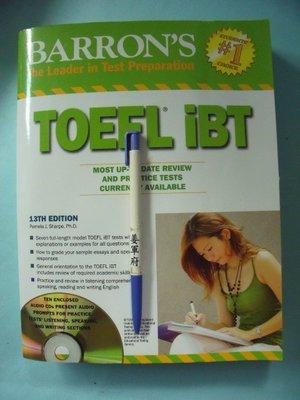 【姜軍府】《BARRON'S TOEFL IBT 共1書+10光碟!》13TH EDITION Sharpe 托福考試