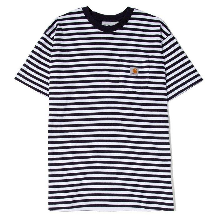 【美國鞋校】現貨 Carhartt WIP Barkley Pocket T-Shirt I026364 條紋短T