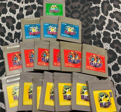幸運小兔 GB遊戲 GB 神奇寶貝 GB 寶可夢 黃版 皮卡丘版 噴火龍 紅版 綠版 水箭龜 藍版 口袋怪獸 庫存