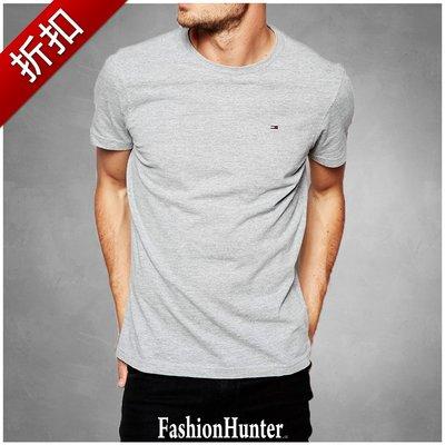 折扣【FH.cc】Tommy 素t 短袖T恤 灰 刺繡Logo 領口內側撞色加強條 另有 Timberland A&F