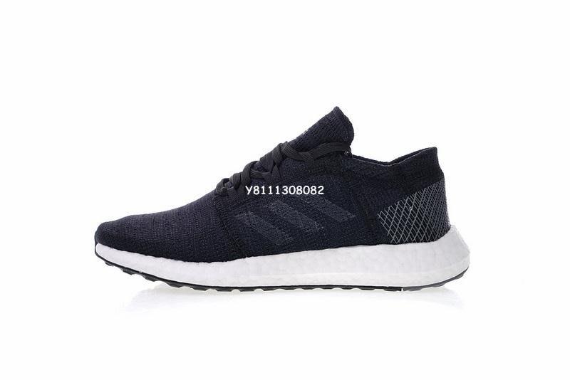 """Adidas Pure Boost Go 爆米花 休閒 慢跑鞋""""黑灰白""""B75665 男女鞋"""