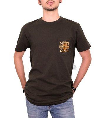 Harley-Davidson 哈雷機車 短袖T恤 口袋T【M(寬鬆款)】Gritty Trademark 全新 現貨