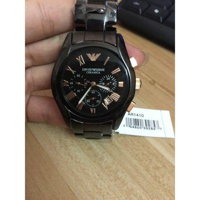 ARMANI亞曼尼男錶 男錶潮流陶瓷運動石英手錶 腕錶防水三眼日期錶 AR1410