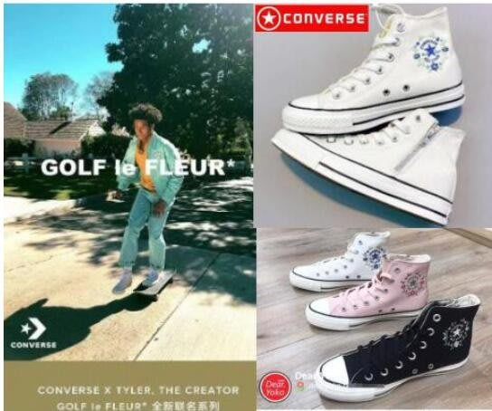 日本代購 converse 帆布鞋 匡威 ALL STAR FLOWcROWN 側拉鏈 花環刺繡 女鞋 小白鞋 學生鞋