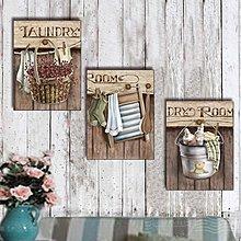 美式複古懷舊木版畫無框裝飾掛壁畫客廳咖啡廳酒吧牆壁掛板裝飾品(3款可選)