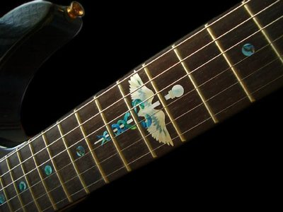園之屋 日本 Inlay sticker 雙蛇杖 12-14琴格貼紙 民謠吉他 電吉他