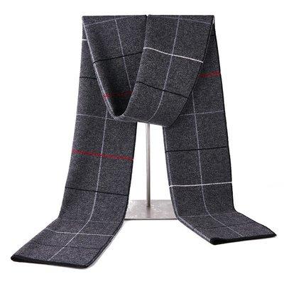 圍巾 羊毛 披肩-休閒學院風格子針織男配件3色73wh17[獨家進口][米蘭精品]