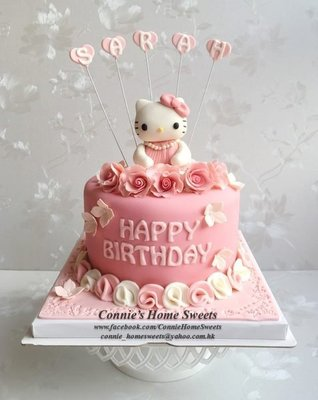 【Connie's Home Sweets】Hello Kitty 3D cupcake cake 造型 Birthday Baby Shower Party Full Moon Event