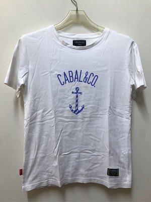 【衝評價。特價購】Cabal & co. Inc 台灣潮牌設計T 海軍船錨圖。太陽選物社