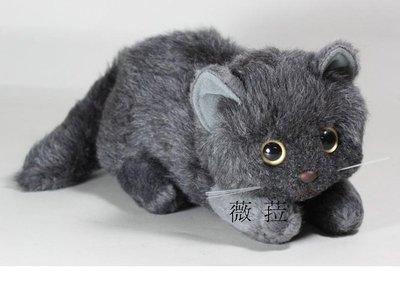 ☆薇菈日本精品☆日本製Yoshitoku超可愛臥姿貓咪玩偶娃娃-灰色預購