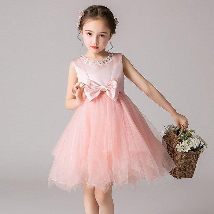 •*~ 辣媽咪衣飾小舖 ~*•❤童裝系列❤K980469韓版大童夏款甜美清新時尚蓬蓬蕾絲亮片可愛公主禮服公主洋裝