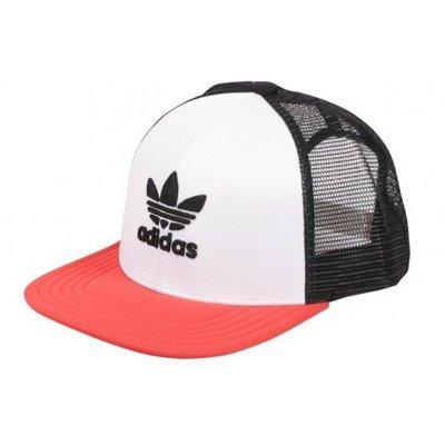# adidas Originals Cap 三葉草 後扣帽 網帽 愛迪達 黑白紅 棒球帽 休閒 CE5706 YTS