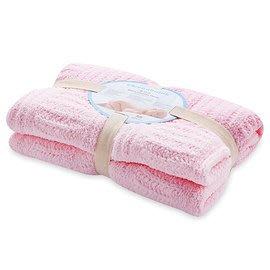 【魔法世界】奇哥 立體格紋柔舒毯(小-80×100公分)(粉色)【奇哥正品】