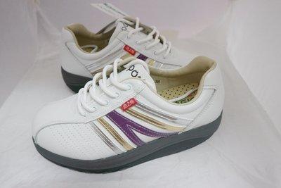 -地之柏  320 台灣製造 真皮氣墊  美姿健美鞋  白色  特價1450元 35~40號 另有桃 和黑