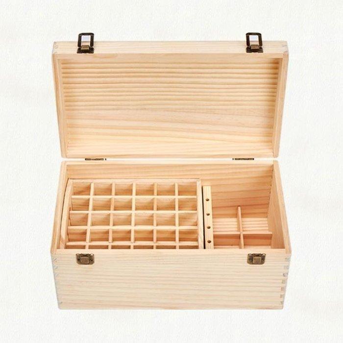 《全館免運 可開發票》實木多特瑞精油收納盒便攜松木雙層高檔裝精油瓶木盒 【FOLLOW ME】