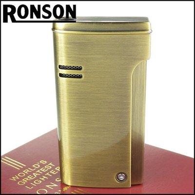 ☆哈洛德小舖☆全新【RONSON】RONJET系列-瓦斯噴射打火機-黃銅款 NO.R29-0001