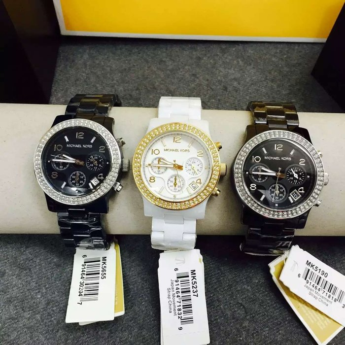 【Michael Kors代購館 】美國正品MK5188 MK5190 MK5237 MK5655精美陶瓷女錶水鑽手錶