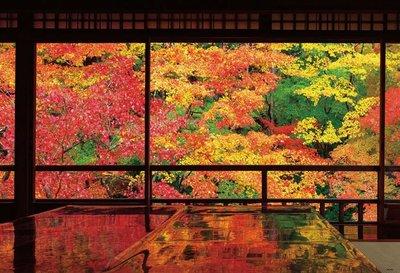 日本正版拼圖.風景 日本 京都紅葉名所內 最美窗景 琉璃光院 1000片拼圖,51-246