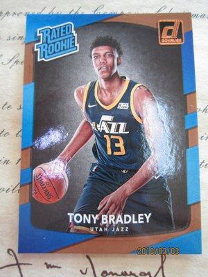 新賣家~16/17~Tony Bradley~DONRUSS~RC~RATED ROOKIE~沒限量~1 1元起標