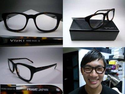 信義計劃 Vioki 日本製 手工 眼鏡 復古框 超級紅人榜那些年蔡昌憲超越雷朋款 eyeglasses